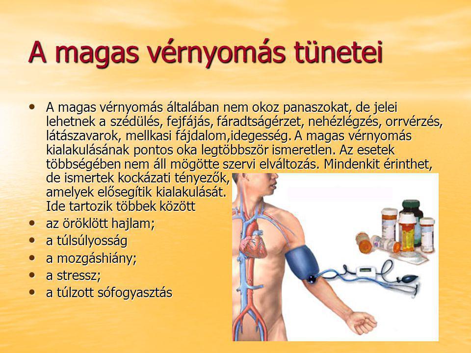 a magas vérnyomás mértéke és a kockázatok