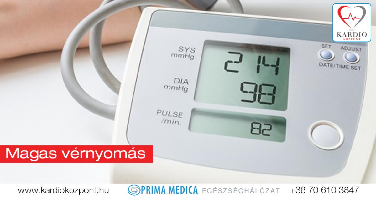 magas vérnyomás a szív miatt