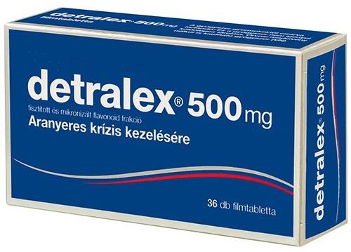 A Detralex magas vérnyomás esetén alkalmazható tömöríti és magas vérnyomás